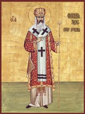 icone de saint Flavien le Confesseur, patriarche-martyr de Constantinople