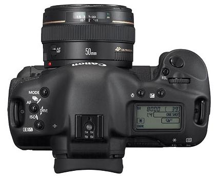 Canon EOS 1D Mark II de haut