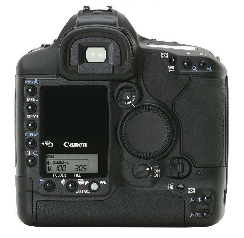 le Canon EOS 1Ds de dos