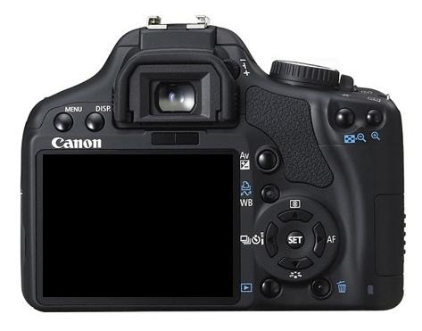 le Canon EOS 450D de dos