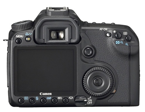 le Canon EOS 40D de dos