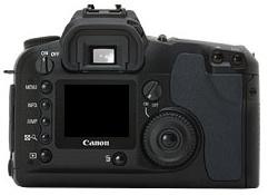 le Canon EOS D60 de dos