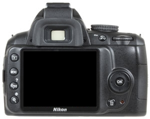 le Nikon D3000 de dos