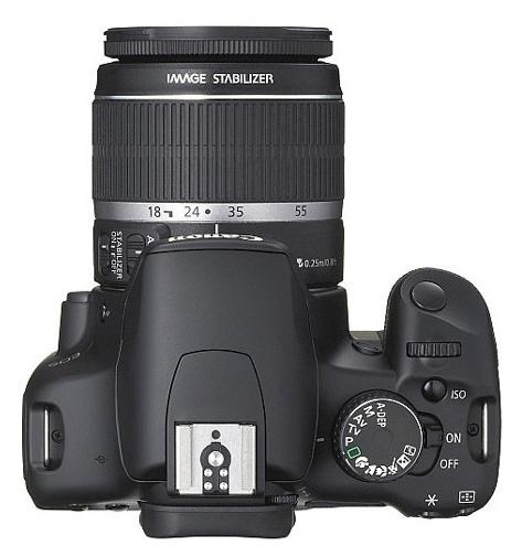 le Canon EOS 450D de haut