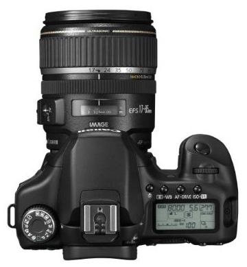 le Canon EOS 40D de haut
