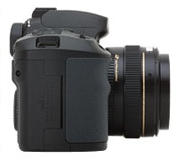 le Canon EOS D60 de côté
