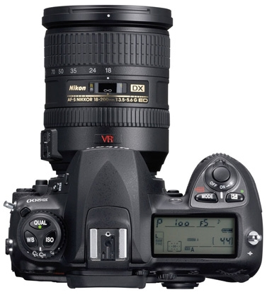 le Nikon D70 de haut