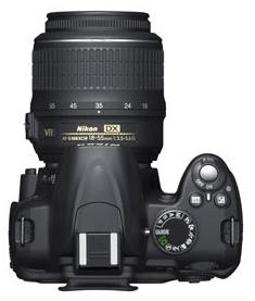 le Nikon D3000 de haut