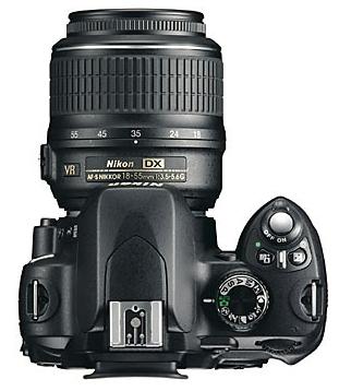 le Nikon D60 de haut
