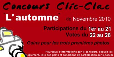 Concours Clic-Clac de Novembre 2010, L'automne
