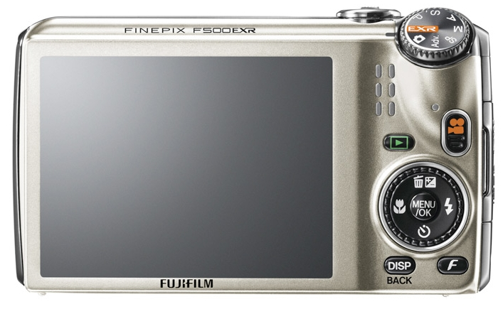 le Fujifilm FinePix F500EXR blanc de dos