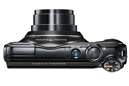 le Fujifilm FinePix F500EXR noir de haut