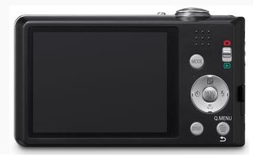 le Panasonic Lumix DMC-FS18 noir de dos