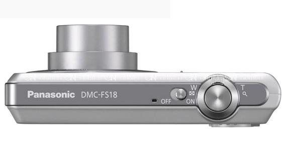 le Panasonic Lumix DMC-FS18 argent de haut