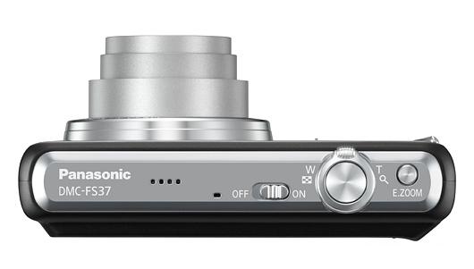 le Panasonic Lumix DMC-FS37 noir de haut