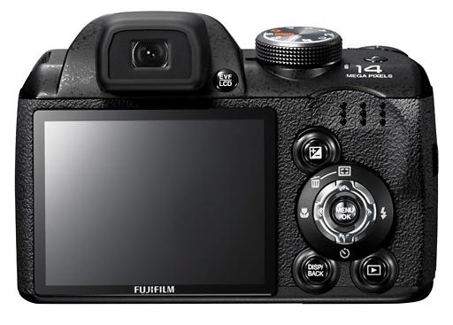le Fujifilm FinePix S3200 de dos