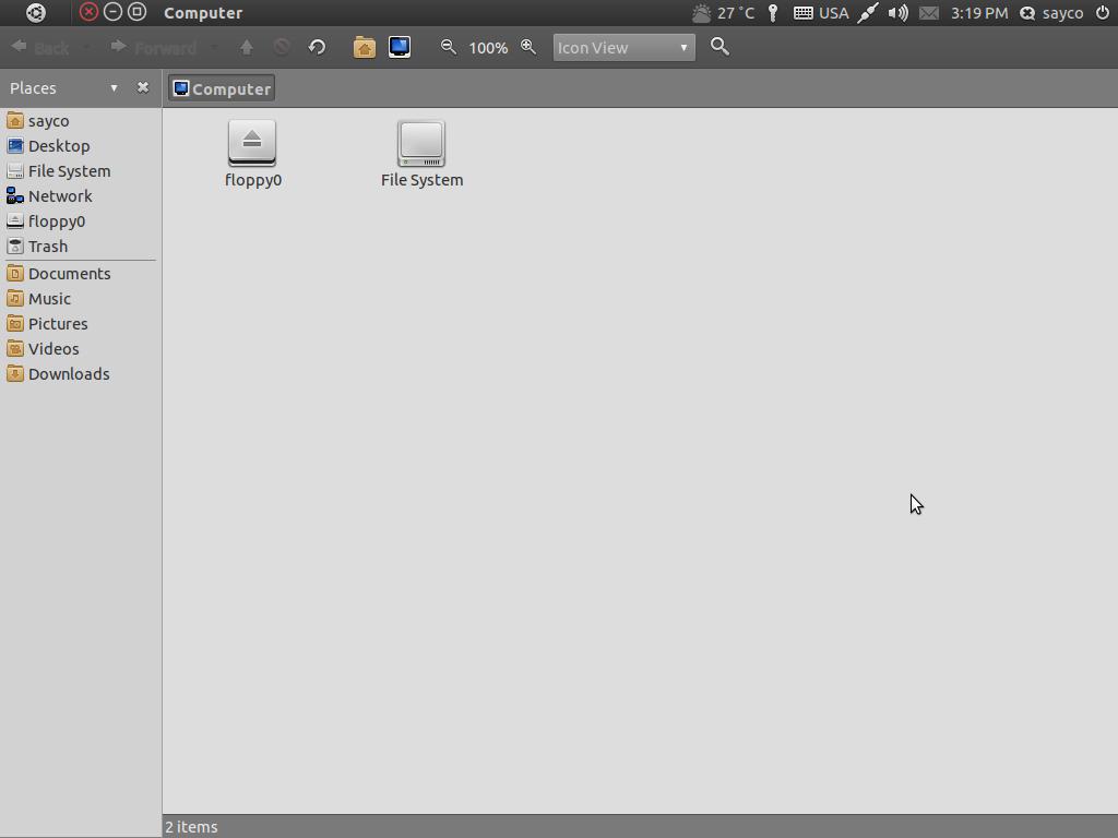 screenshot of file browser