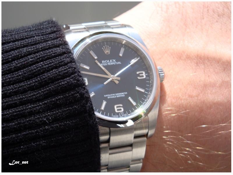 Un cadeau parfait : Rolex Oyster Perpetual 116000 Blue Dial