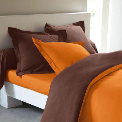Best deco chambre orange et marron contemporary for Deco maison orange et marron