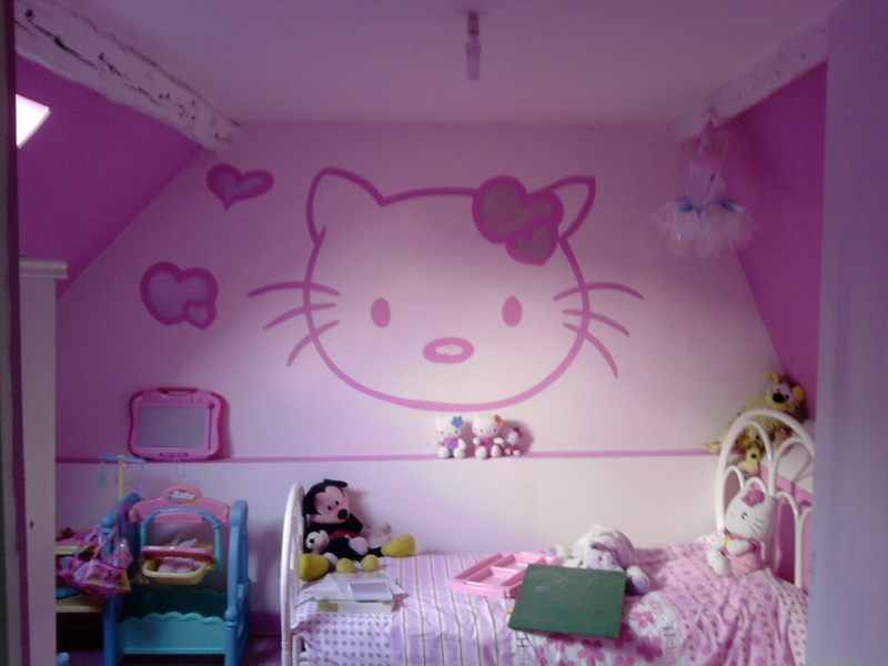 dessin mural chambre fille maison design. Black Bedroom Furniture Sets. Home Design Ideas