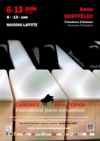 Affiche Concours de Piano IDF 2020