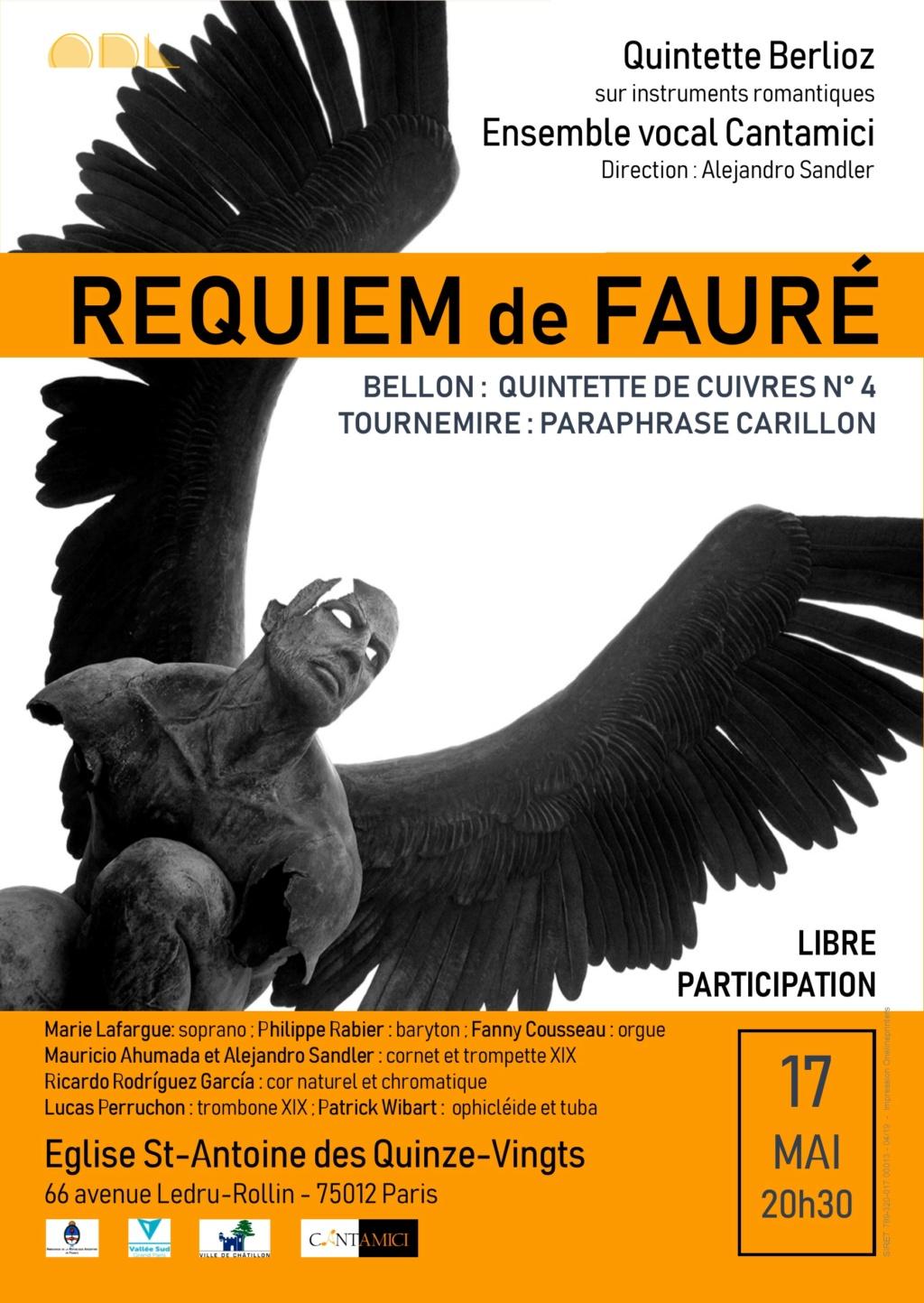 Affiche concert Requiem de Fauré 2019