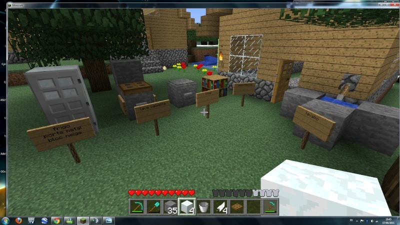 meubles minecraft