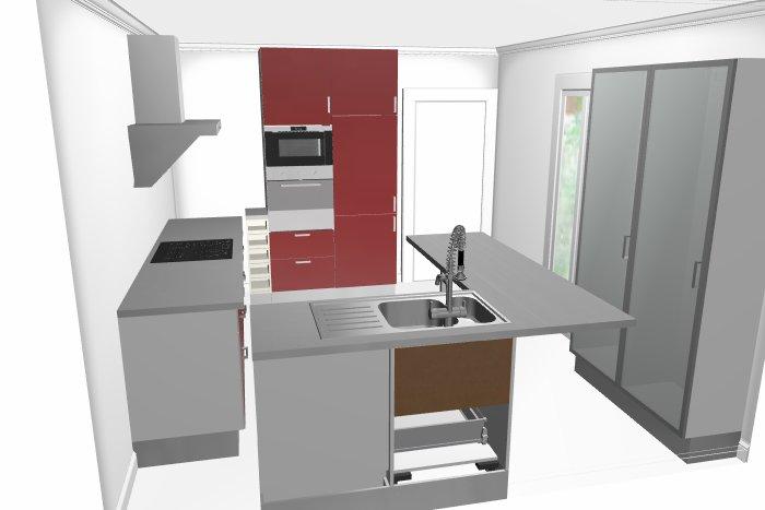 je cogite mon implantation de cuisine un coup de pouce. Black Bedroom Furniture Sets. Home Design Ideas